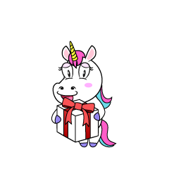 Unicorn with Present