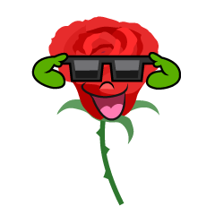 Rose with Sunglasses
