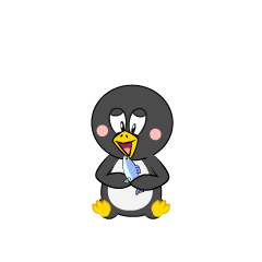 Eating Penguin