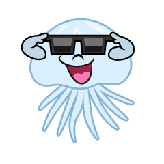 Jellyfish with Sunglasses