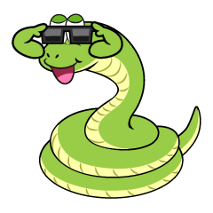 Snake with Sunglasses