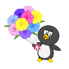 Penguin with Bouquet