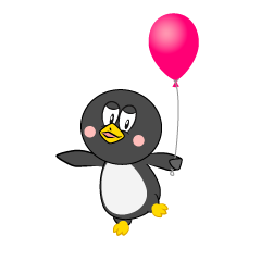 Penguin with Balloon
