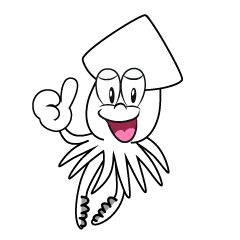 Thumbs up Squid