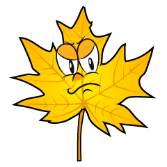 Angry Yellow Fall Leaf