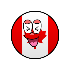 Laughing Canadian Symbol