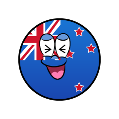 Laughing New Zealand Symbol
