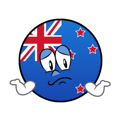Troubled New Zealand Symbol