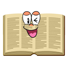 Laughing Open Book