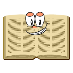Grinning Open Book
