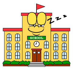 Sleeping School Building