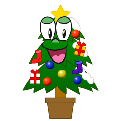 Smiling Christmas Tree