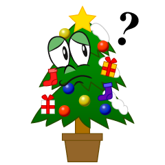 Thinking Christmas Tree