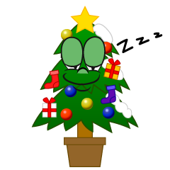 Sleeping Christmas Tree