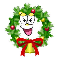 Laughing Christmas Wreath