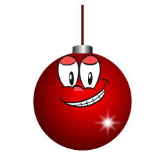 Grinning Christmas Ornament