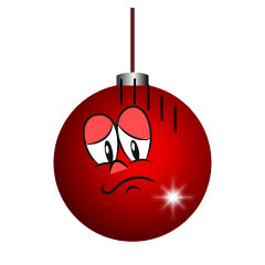Depressed Christmas Ornament