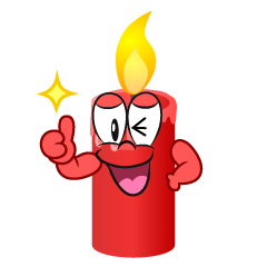 Thumbs up Candle