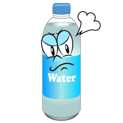 Angry Water Bottle
