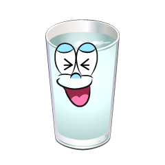 Laughing Water Glass