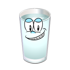 Grinning Water Glass