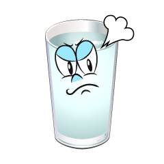 Angry Water Glass