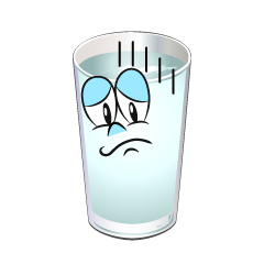 Depressed Water Glass