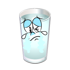 Crying Water Glass