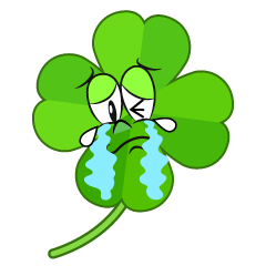 Crying Four Leaf Clover