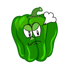 Angry Green Pepper