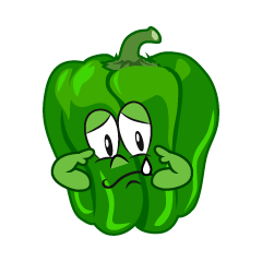 Sad Green Pepper