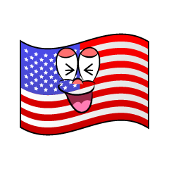 Laughing American Flag