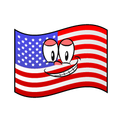 Grinning American Flag