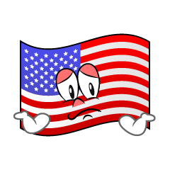 Troubled American Flag