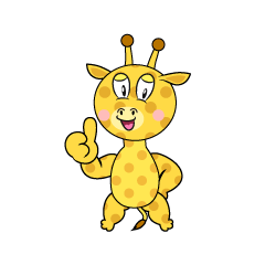 Thumbs up Giraffe
