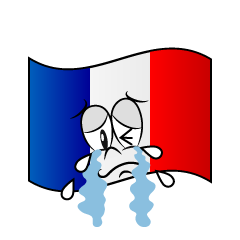 Crying French Flag