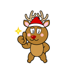 Thumbs up Reindeer