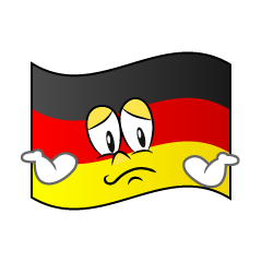 Troubled German Flag