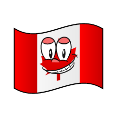 Grinning Canadian Flag