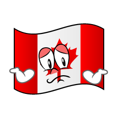 Troubled Canadian Flag