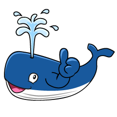 Thumbs up Whale