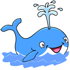 Blue Whale in the Sea