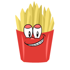 Grinning French Fries