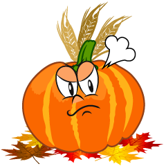 Angry Thanksgiving Pumpkin