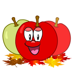 Smiling Fall Apple