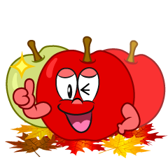 Thumbs up Fall Apple