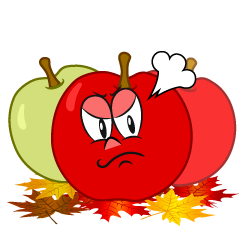 Angry Fall Apple