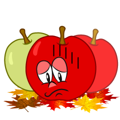 Depressed Fall Apple