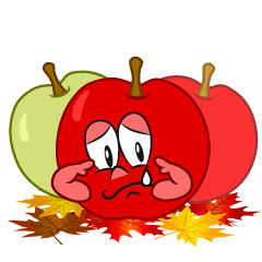Sad Fall Apple