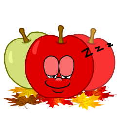 Sleeping Fall Apple